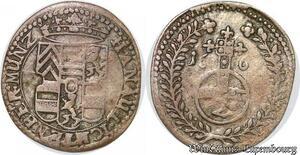 S6819 Rare ! Hanau Lichterberg Frédéric Casimir 2 Kreutzer 1664 Argent Silver