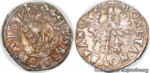 S6833 Loaine Henri II 1608-1624 Billon demi-gros Nancy Argent Silver