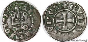 S6848 Athènes Guillaume de la Roche ( 1287 - 1308 ) denI tournois Argent
