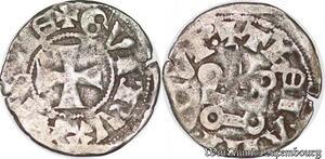 S6849 Athènes Guillaume de la Roche ( 1287 - 1308 ) denI tournois Argent