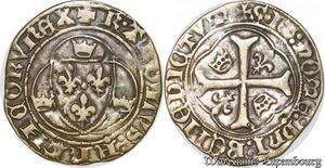 S6862 Très Rare Charles VII blanc à la couronnelle PoitIs ->Faire Offre