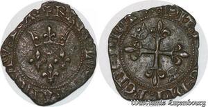 S6874 Rare Charles VI Gros florette Argent Silver ->Faire Offre