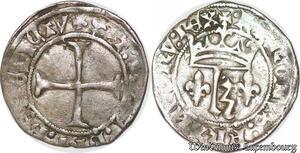 S6885 Rare Charles VII 1422-1461 Petit blanc au K PoitIs ->Faire Offre