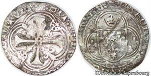 S6889 Charles VIII Blanc à la couronne de Bretagne Rennes ->Faire Offre
