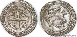 S6893 Rare Charles VIII Liard au dauphin n.d. Saint-Lô ->Faire Offre
