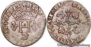 S6920 Rare Henri III double sol Parisis du Dauphiné 1579 Z Grenoble