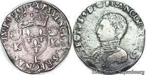 S6946 Charles IX Teston 3e type 1563 L Bayonne Silver Qualité !->Faire Offre