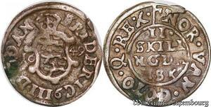 S6972 Danemark 2 Skilling Frederick III 1649 Silver ->Make offer