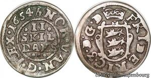 S6974 Danemark 2 Skilling Frederick III 1654 Silver ->Make offer