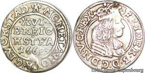 S6981 Danemark 3 Skilling Frederick III 1666 Silver ->Make offer