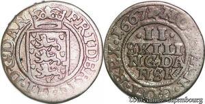S6982 Danemark 2 Skilling Frederick III 1667 Silver ->Make offer