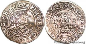 S6984 Danemark 3 Skilling Frederick III 1666 Silver ->Make offer