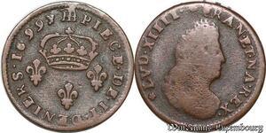 S7006 Louis XIV the sin king II denIs légende latine 1696 BB Strasbourg