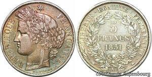 S7063 5 Francs Ceres 1851 A Paris Argent Silver ->Faire Offre