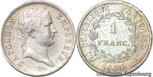 S7071 1 FrancNapoléon I 1808 A Paris Argent ->Faire Offre