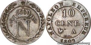 S7085 10 Centimes Napoléon I 1809 A Paris Qualité ! ->Faire Offre