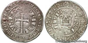 S7098 Philippe V le Long (the Tall) 1316–1322. Gros tournois l'O rond Argent