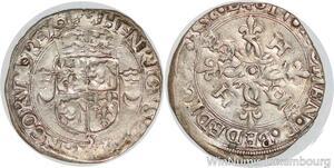 S7113 Henri II douzain aux croissants du Dauphiné 2e type 1552 Grenoble