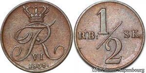 S7145 Denmark Danemark 1/2 Ringsbankskilling 1838 Frederik Vi ->Make Offer