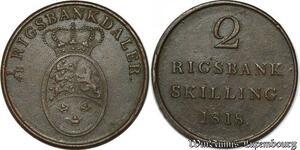 S7146 Dänemark Danemark 2 RBS 1818 Ku Frederik VI Siegs 18 Rigsbankskilling