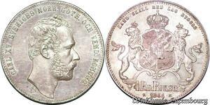 S7155 Sweden 4 Riksdaler 1864-ST Stockholm Mint Karl XV Silver UNC !