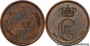 S7165 Dänemark 1 Öre 1904 VBP Christian IX ! superbe ->Make offer