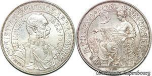 S7170 Danemark 2 Kroner 1903 P GJ 40th Anniversary of Reign Christian IX