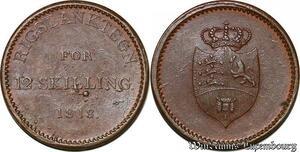 S7174 Danemark Frederik VI 1808-1839 12 Skilling Rigsbanktegn 1813 AU