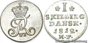 S7183 denmark Frederik VI 1 Skilling Danske 1812 UNC ! ->Make offer