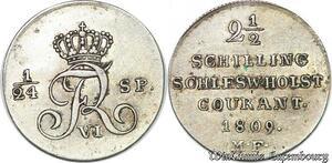 S7184 German States Schleswig-Holstein 2 1/2 Schilling 1809 Friedrich VI