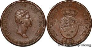 S7209 denmark 2 Skilling Fredericus VI Frederik 1811 XF - AU ->Make offer