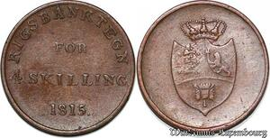 S7211 denmark Danemark 4 Skilling Rigsbanktegn 1815 ! XF to AU ->Make offer