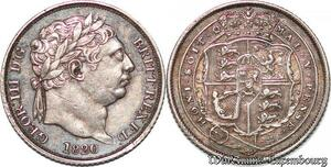 S7239 UK GB great Britain 6 Pence George III 1820 AU Silver UNC ->Make offer