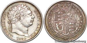 S7240 UK GB great Britain 6 Pence George III 1820 AU Silver UNC ->Make offer
