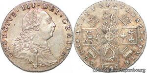 S7241 Hanover GeorgeIII 1760-1820 6 Pence London mint 1787 Silver AU !