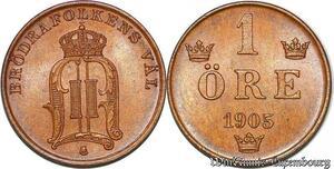 S7304 Suede Svenska 1 öre 1905 Uncirculated ->Make offer