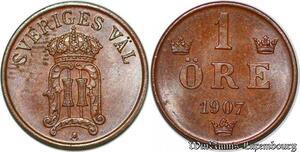 S7307 Suede Svenska 1 öre 1907 Uncirculated ->Make offer