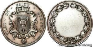 S7318 Médaille Ville Saint Quentin Aisne Bataille Mary Argent Silver
