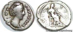 S7332 Roman Empire Faustine mère denier Rome Avgvsta Argent Silver