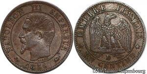 S7365 Très Rare ! 1 Centime Napoléon III 1856 D Lyon superbe ! ->Faire Offre