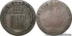 S7374 German States Wesphalia 20 Centimes 1812 C Silver ->Make offer