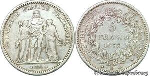 S7402 5 Francs Hercule 1873 A Paris Argent Silver ->Faire Offre