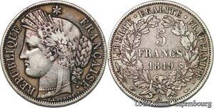 S7406 5 Francs Ceres 1851 A Paris Argent Silver ->Faire Offre