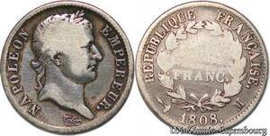 S7416 1 FrancNapoléon III 1808 M Toulouse Argent Silver ->Faire Offre