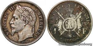 S7420 1 FrancNapoléon III 1867 A Paris Argent Silver ->Faire Offre