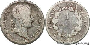 S7425 1 FrancNapoléon I Empereur 1808 A Paris Argent Silver ->Faire Offre