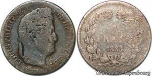 S7429 1/2 FrancLouis Philippe 1833 A Paris Argent Silver ->Faire Offre