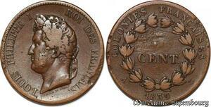 S7436 Colonie Francaise 5 Centimes Louis Philippe 1839 A Paris ->Faire Offre