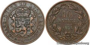 S7456 Luxembourg 10 Centimes Guillaume II 1855 A - AU ->Make offer