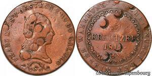 S7479 Austria 3 Kreuzer Franz II 1812 Schmöllnitz Counterstamped ->Make offer